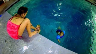 Brave Jump and Dive in Deep Deep Pool