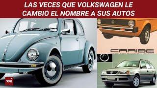 Del Golf al Caribe o del Beetle al Sedan: así ha cambiado Volkswagen el nombre a sus autos en México