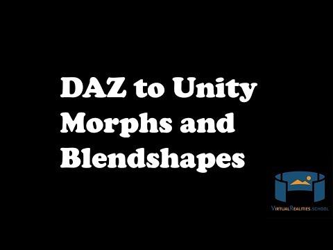 Daz3D to Unity3D: How to conform clothing to blendshapes! - смотреть