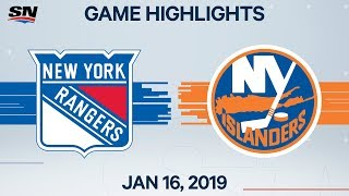 NHL Highlights   Rangers vs. Islanders – Jan. 16, 2020