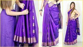 इन TRICKS के साथ पहने Perfect Pleats वाली Cotton साड़ी - How To Wear Saree Perfectly | Anaysa