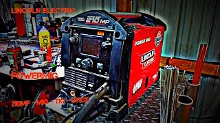 Lincoln Electric Power Mig 210 MP -----Review&Demo-----