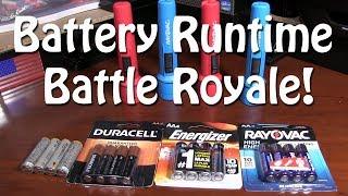 Energizer vs. Duracell vs. Rayovac vs. Amazon Battery Test