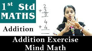 Mathematics For Class 1 | Addition | Addition Exercise - Mind Math | Maths For Kids
