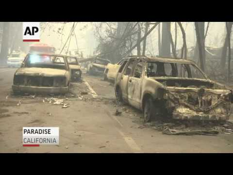 Residents of Paradise, California, are talking about narrow escapes from their burning homes as a wildfire rapidly approached. Many got stuck in gridlocked traffic trying to escape. (Nov. 9)