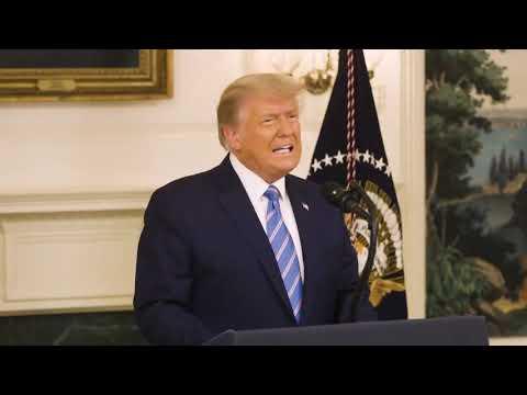 """טראמפ מכריז: """"מתחייב להעביר את השלטון"""""""