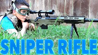 WELL MB4411D Bolt Action Airsoft Sniper Rifle with Robert-Andre!