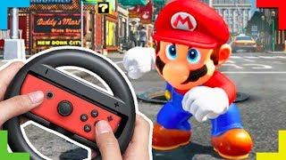 SPEEDRUNNING Super Mario Odyssey with a WHEEL | Play by the Rules