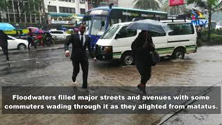 Heavy rain floods Nairobi - VIDEO