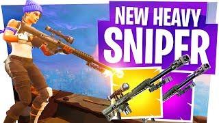 The NEW 50 Cal Sniper in Fortnite! - Heavy Sniper Gameplay & Win!