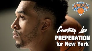 Courtney Lee getting ready for the New York Knicks 2016-17 season.