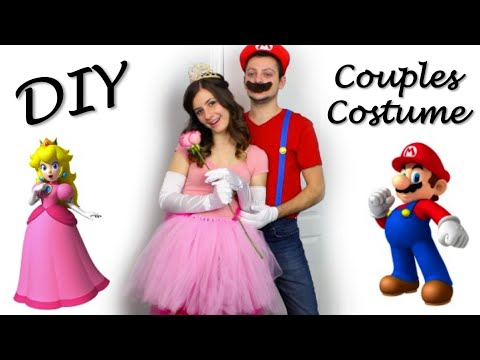 Princess Peach & Mario DIY Halloween Couples Costume