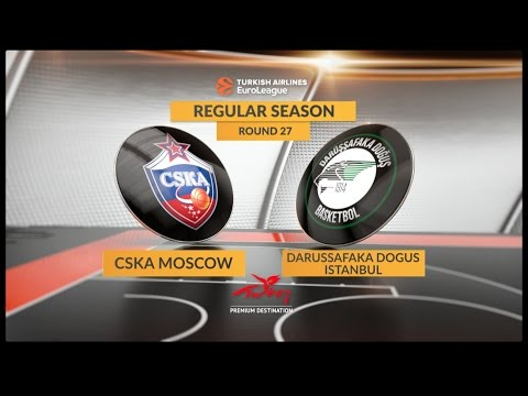 EuroLeague Highlights RS Round 27: CSKA Moscow 95-85 Darussafaka Dogus Istanbul