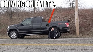 """How far did I drive my Ford F150 on """"0 MILES TO EMPTY"""" ?? (a LOT farther than you think)"""
