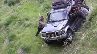 Mitsubishi Pajero и UAZ. 4x4. Off road adventures. Mountains, Kazakhstan