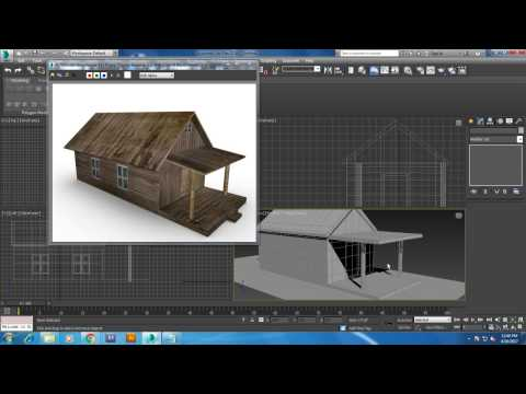 Tutorial on Modeling a Basic House in 3dsmax. ( For Begineers )