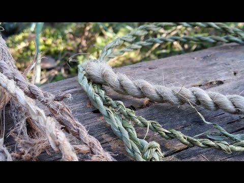 Come fare una corda primitiva con fibre naturali