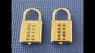 (Picking 29) Push button digital combination padlock (decoded)