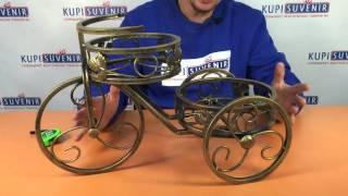 """Подставка для цветов и вазонов Велосипед двойка от компании Компания """"TECHNOVA"""" - видео"""