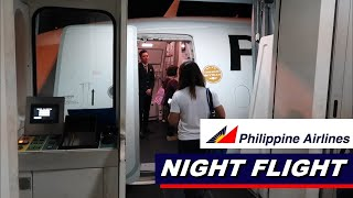 NIGHT FLIGHT | Philippine Airlines A321 from Bacolod to Manila
