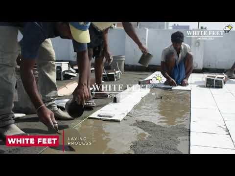 Ceramic Roof Tile - White Feet Tile - Silverplus