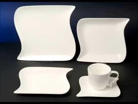 Ozean Weiss Dekor Porzellan Geschirr Set Tafel Kaffee Kombi Service Ocean Madelaine