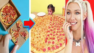 MOST Oddly Satisfying FOOD Video EVER! (Giant Food vs Small Food!!)