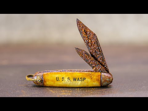 How an Old Rusty WWII Pocket Knife is Restored