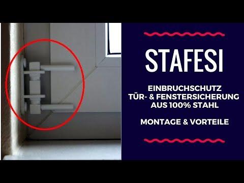 Nachrüsten/Einbauen der STAFESI Tür- & Fenstersicherung. Einbruchschutz Tür & Fenster!