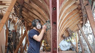 BOATBUILDING / Carving Sternpost / Cutting Rabbet (EP60)