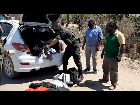 Video: Momento en el que secuestraron casi 180 kilos de cocaína en Tartagal