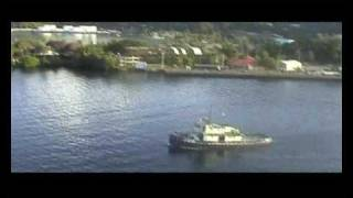 preview picture of video 'Pago Pago Sail Away & Tugs'