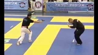 Krav Maga gun disarming show in Israel on Ego Total