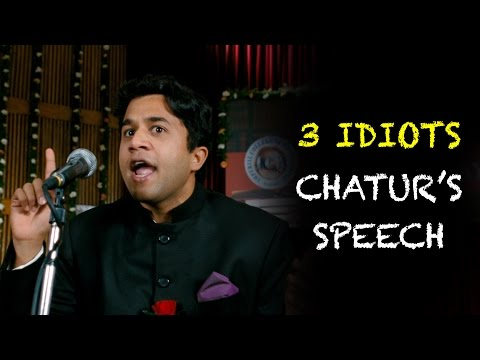 Download Chatur's Speech - Funny Scene | 3 Idiots | Aamir Khan | R Madhavan | Sharman Joshi | Omi Vaidya HD Mp4 3GP Video and MP3
