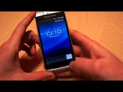 Youtube Video Sony Ericsson Xperia Active black with orange belt mit weißem Wechselcover