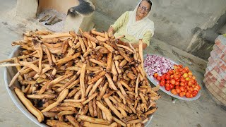 LOTUS ROOT RECIPE BY MY GRANNY    VILLAGE FOOD   VEG RECIPES   INDIAN RECIPES   INDIAN STYLE