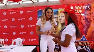Tennis Canada: Talking WWE, tennis and the power of women with Trish Stratus at Rogers Cup