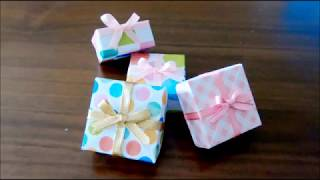 How To Make A Jewelry Gift Box 【Origami Gift Box】