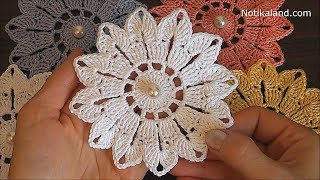 Crochet Flower Tutorial VERY EASY Crochet Flower Easy Pattern