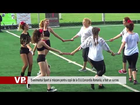 Evenimentul Sport și mișcare pentru copii de la O.U.Concordia România, a fost un succes