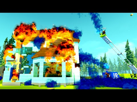 Which Firefighters Deserve to be Fired More? [Water Cannon Mod!]  - Scrap Mechanic Multiplayer