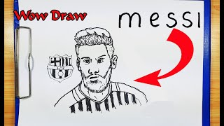 How To Draw MESSI - How To Turn Word MESSI into A CARTOON - Drawing Messi - Drawing Lionel MESSI