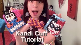 HOW TO MAKE A KANDI/BEADED CUFF!/Step By Step/How To Tutorial!