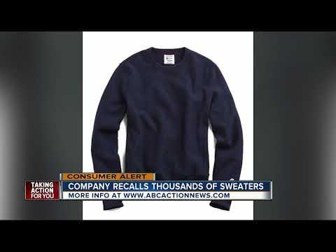 Sweatshirts recalled due to burn risks