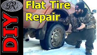 ★DIY Cheap + Easy Trick For A Flat Tire Repair. Never Be Left Stranded Because Of A Flat Tire.