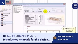 Dlubal RX-TIMBER Purlin - Designing a Coupled Purlin