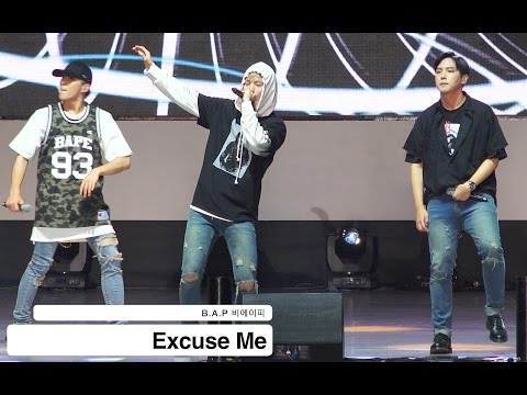 B.A.P 비에이피[4K 직캠]Excuse Me@20160928 Rock Music