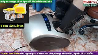 Video máy massage chân áp suất khí Nikio NK-188 - Giải pháp giảm đau chân cho người suy giãn tĩnh mạch