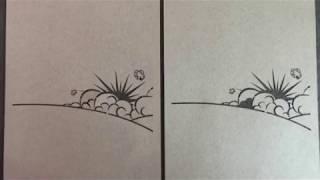 Découpe de motif dans du papier cartonné
