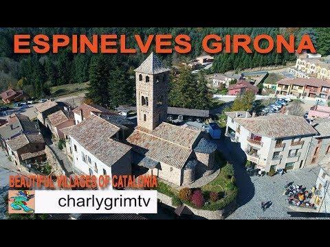 Espinelves Girona Catalunya, Beautiful villages of catalonia, DJI Phantom 4 Pro